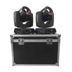 Power Lighting TIG-LYRE7R-PA - Pack : 2 LYRES OSRAM 7R 230W + FLIGHT CASE OFFERT