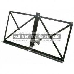 Stagg MUS-A1BK - Pupitre de table pliable en métal avec housse