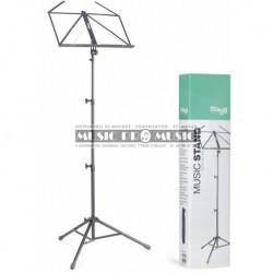 Stagg MUS-A4-BK - Pupitre lyre pliable à support tubulaire 3 sections avec housse