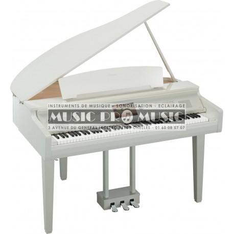 Yamaha CVP709GPPWH - Piano numérique arrangeur blanc laqué avec meuble