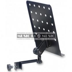 Stagg MUS-ARM1 - Petite tablette de pupitre perforée avec bras à fixer sur un stand