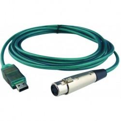 Alctron UC-210 - Câble USB/XRL Femelle