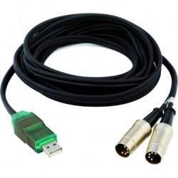 Alctron UC-220 - Câble USB/Double Midi