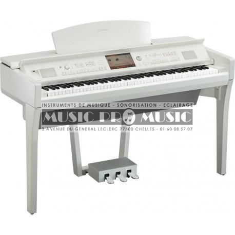 Yamaha CVP709PWH - Piano numérique arrangeur blanc laqué avec meuble