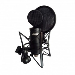 Power Studio VIBE C1 BUNDLE - Micro de studio à condensateur + Suspension avec filtre anti-pop