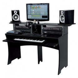 Glorious DJ WORKBENCH BLACK - Station de Travail Home Studio Finition Noir