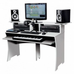 Glorious DJ WORKBENCH WHITE - Station de Travail Home Studio Finition Blanc