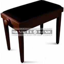 Delson 104-5RM - Banquette piano velour noir bois rosewood satiné