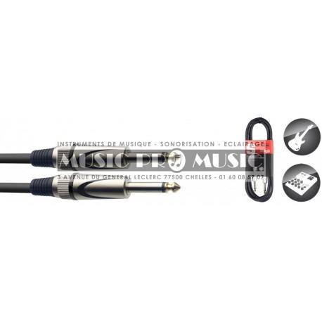 Stagg SGC1-5DL - Câble instrument Jack 6,35mm mâle mono 1,5 mètres