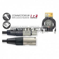 Stagg NMC10R - Câble de microphone XLR/XLR (m/f) 10 m série N