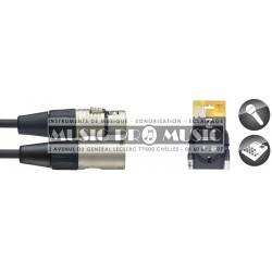 Stagg NMC6R - Câble de microphone XLR/XLR (m/f) 6 m série N
