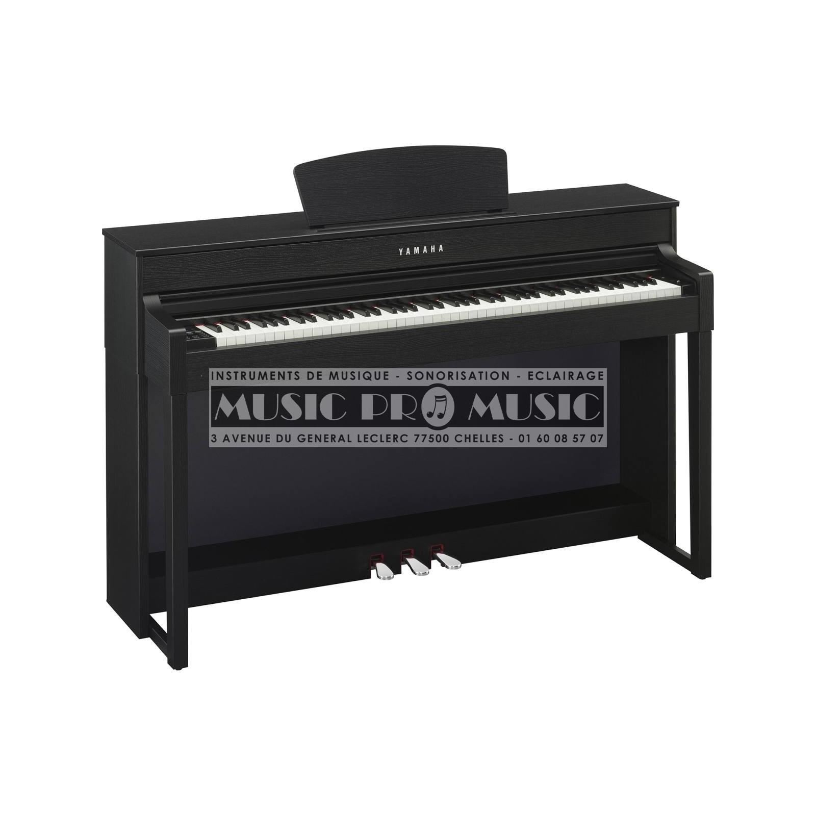 Yamaha clp 535b piano num rique noir satin avec meuble for Meuble yamaha