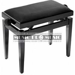Gewa F900559 - Banquette piano velour noir bois noir satiné