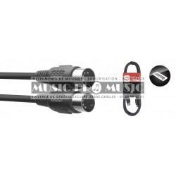 Stagg SMD6-E - Câble MIDI DIN/DIN (m/m) 6 m connecteurs en plastique