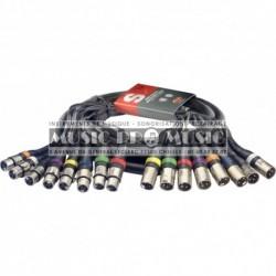 Stagg SML5/8XF8XM-E - Multicâble - 8 x XLR f./8 x XLR m