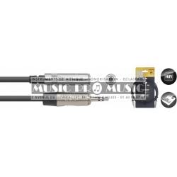 Stagg NAC3MPSMJSR - Série N câble audio mini jack/mini jack (m/f) stéréo 3 m