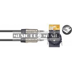 Stagg NAC3MPSR - Série N câble audio mini jack/mini jack (m/m) stéréo 3 m