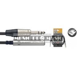 Stagg NAC3PSJSR - Série N câble audio jack/jack (m/f) stéréo 3 m