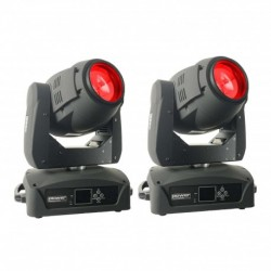 Power Lighting LY-SP-180W-PA - Pack : 2 lyres Spot 180W + Flight-case offert