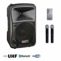Power Acoustics BE-9412-MEDIA - Sono portable MP3+USB+2 micros main UHF