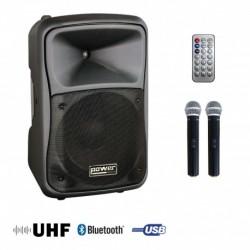 Power Acoustics BE 9412 UHF MEDIA - Sono portable MP3+USB+2 micros main UHF