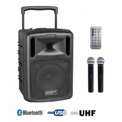 Power Acoustics BE-9208-MEDIA - Sono portable MP3+USB+2 micros main UHF