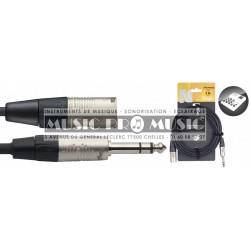 Stagg NAC3PSXMR - Série N câble audio jack/jack (m/f) stéréo 3 m