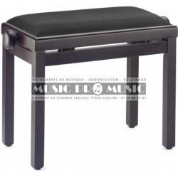 Stagg PB39-RWM-VBK - Banquette de piano couleur palissandre mat avec pelote en velours noir
