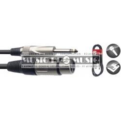 Stagg SMC3XP - Câble XLR femelle - Jack 6,35mm mâle mono 3 mètres