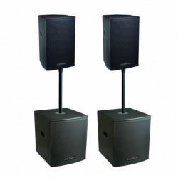 Definitive Audio KOALA NEO 3800 QUAD - Pack 2xKOALA 15AW DSP + 2xKOALA 18AW SUB - barres incluses