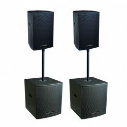Definitive Audio KOA-NEO3600Q - Pack 2xKOALA 12AW DSP + 2xKOALA 15AW SUB - barres incluses