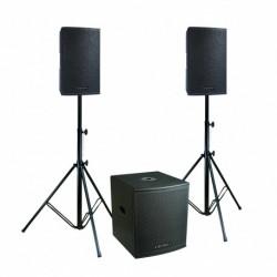 Definitive Audio KOALA NEO 2400 TRI - Pack 2xKOALA 12AW DSP + 1xKOALA 18AW SUB - pieds inclus