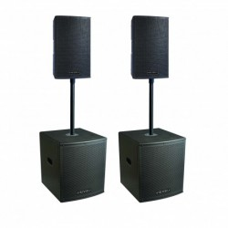 Definitive Audio KOA-NEO2400Q - Pack 2xkoala 8aw + 2xkoala 12aw sub - barres incluses