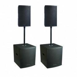 Definitive Audio KOALA NEO 2400 QUAD - Pack 2xkoala 8aw + 2xkoala 12aw sub - barres incluses
