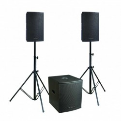Definitive Audio KOA-NEO2100T - Pack 2xKOALA 10AW DSP + 1xKOALA 15AW SUB - pieds inclus