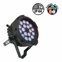 Power Lighting IP18X10IP4-25 - Par Slim IP44 18 Leds de 10W 5-en-1 (angle 25°)