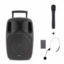 Power Acoustics MOOVY 12 MK2 - Sono portable 12'' sur batterie + 1 micro main VHF + 1 micro serre-tête