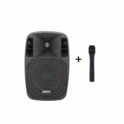 Power Acoustics MOOVY 08 MK2 - Sono portable 8'' sur batterie + 1 micro main VHF
