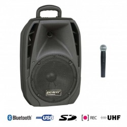 Power Acoustics BE-4400UHF - Sono Portable USB + SD CARD + 1 Micro Main UHF + Bluetooth