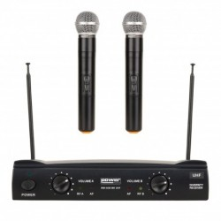 Power Acoustics WM-4400MH-GR3 - Double micros main UHF - Freq 825-828.5 MHZ