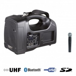Power Acoustics BE 1400 UHF - Sono Portable + USB + 1 Micro Main UHF + Bluetooth