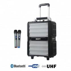 Power Acoustics FUNMOVE-250 - Sono Portable 250W sur batterie + 2 micros main UHF