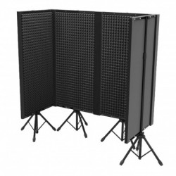 Power Studio CABINE STUDIO ALPHA - Pack : 4x FOAM 400 PANEL + 1x FOAM 400 JOINT + 2x FOAM 400 ANGLE