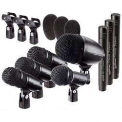 Prodipe DR8 - KIT de 8 micros professionnels Prodipe pour batterie et percus