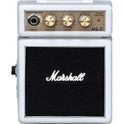 Marshall MS-2W - Mini baffle amplifiée blanche pour guitare électrique