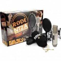 Rode NT2A - Pack Micro studio 3 directivités avec anti-pop et câble XLR