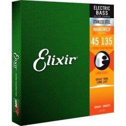 Elixir 14782 - Cordes 45-135 pour basse électrique stainless