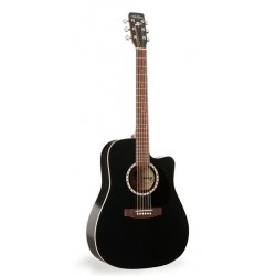 Art & Lutherie AL023684 - Guitare electro acoustique dreadnough noire cutaway