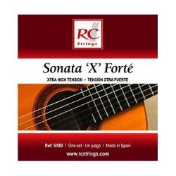 Royal Classic SX80 - Cordes Sonata tension extra forte nylon pour guitare classique