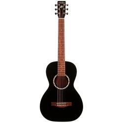 Art & Lutherie AL023561 - Guitare Parlor Ami Cedar noire avec housse